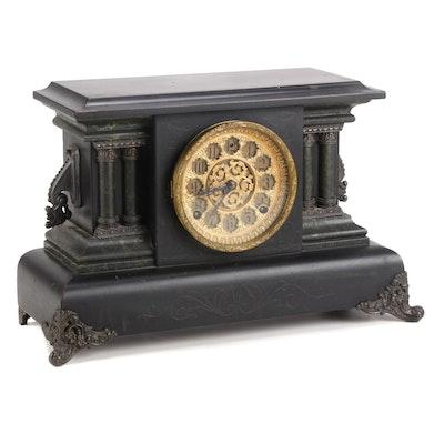 Adamantine Mantel Clock, Late 19th Century