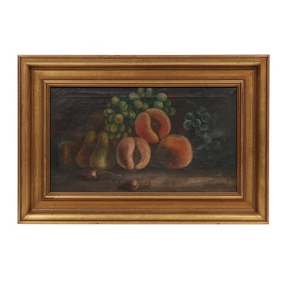 Still Life Oil Painting, 19th Century