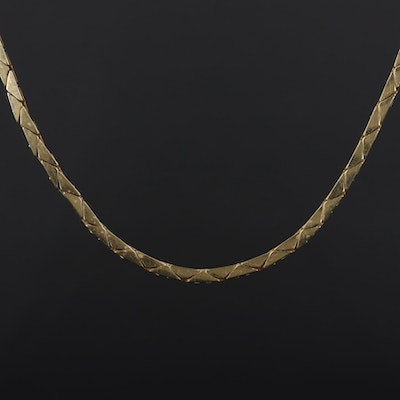 14K Yellow Gold Cobra Chain