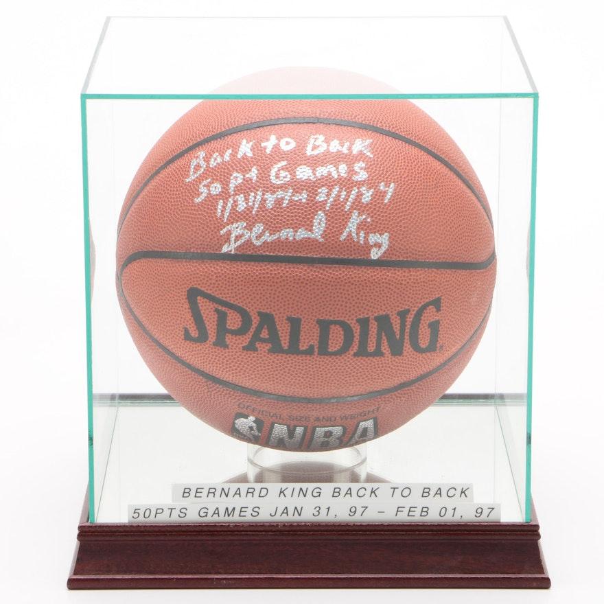 """Bernard King """"Back to Back 50 Pt. Games"""" Signed Spalding NBA Basketball"""