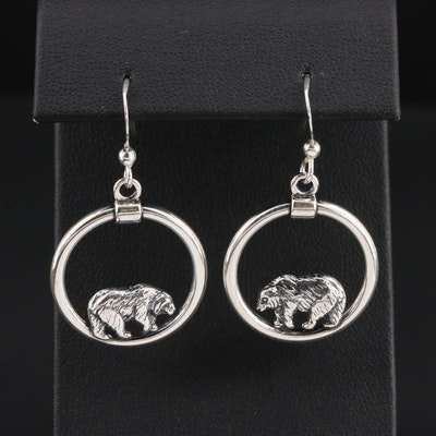 Kabana Sterling Silver Bear Dangle Earrings