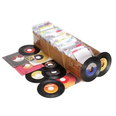 Marvin Gaye, Peter Frampton, Elton John, The Doors and More 45 RPM Vinyl Records