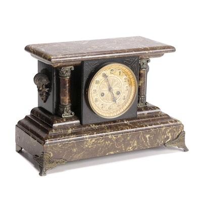 "Waterbury Clock Co. ""Sonoma"" Mantle Clock, Late 19th Century"