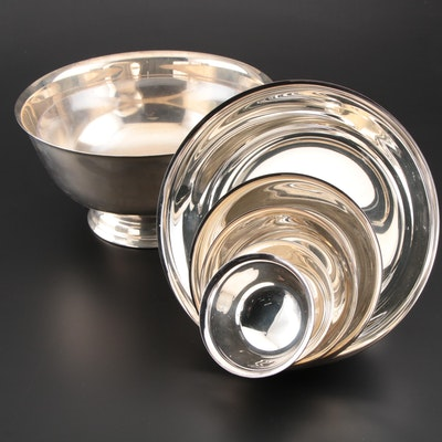 """Gorham """"Paul Revere"""" Silver Plate Bowls and More Bowls, Contemporary"""