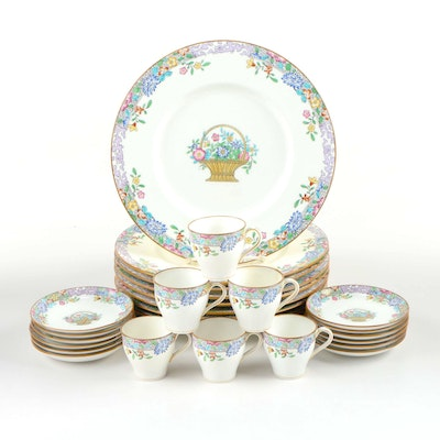 Minton Porcelain Dinner Plates, Demitasse Cups, and Saucers