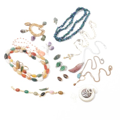 Whiting & Davis Earrings, Beaded Necklaces, Rings and Other Assorted Jewelry