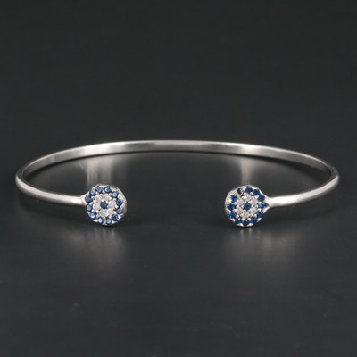 Sterling Silver Spinel and Cubic Zirconia Bracelet