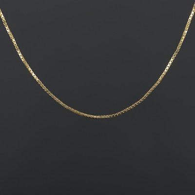 14K Yellow Gold Box Chain