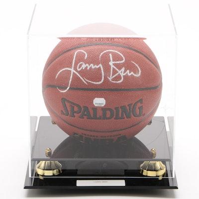Larry Bird Signed Spalding NBA Basketball, Mounted Memories COA