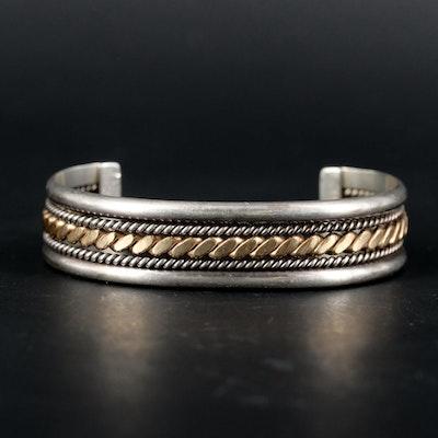 Tahe Navajo Diné Sterling Silver Cuff Bracelet