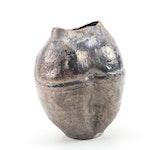 John Tuska Raku Fired Stoneware Vessel