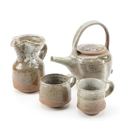 John Tuska Stoneware Teapot and Vessels