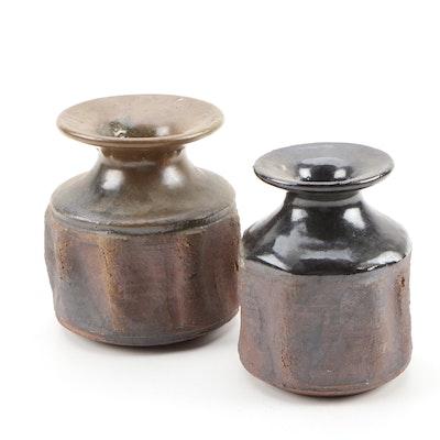 John Tuska Stoneware Pottery Vases