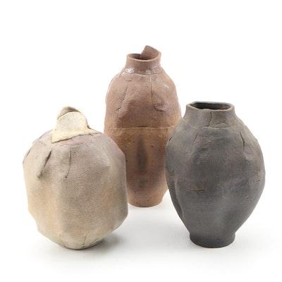 John Tuska Stoneware Vessels, 1986
