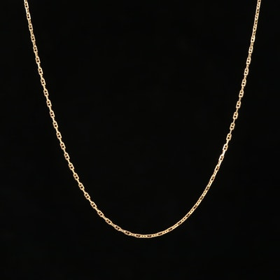14K Yellow Gold Mariners Link Necklace