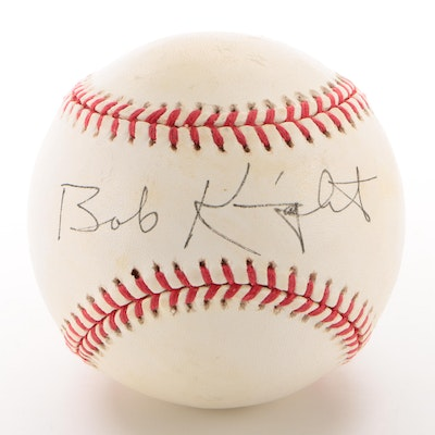 Bobby Knight Signed National League Baseball  COA