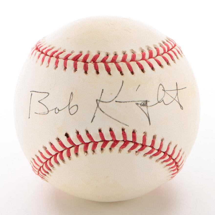 Bobby Knight Signed National League Baseball  COA