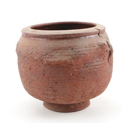 John Tuska Stoneware Footed Pot, 1964