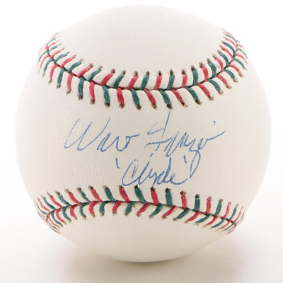 "Walt Frazier ""Clyde"" Signed Rawlings ""Steiner Sports Memorabilia"" Baseball  COA"