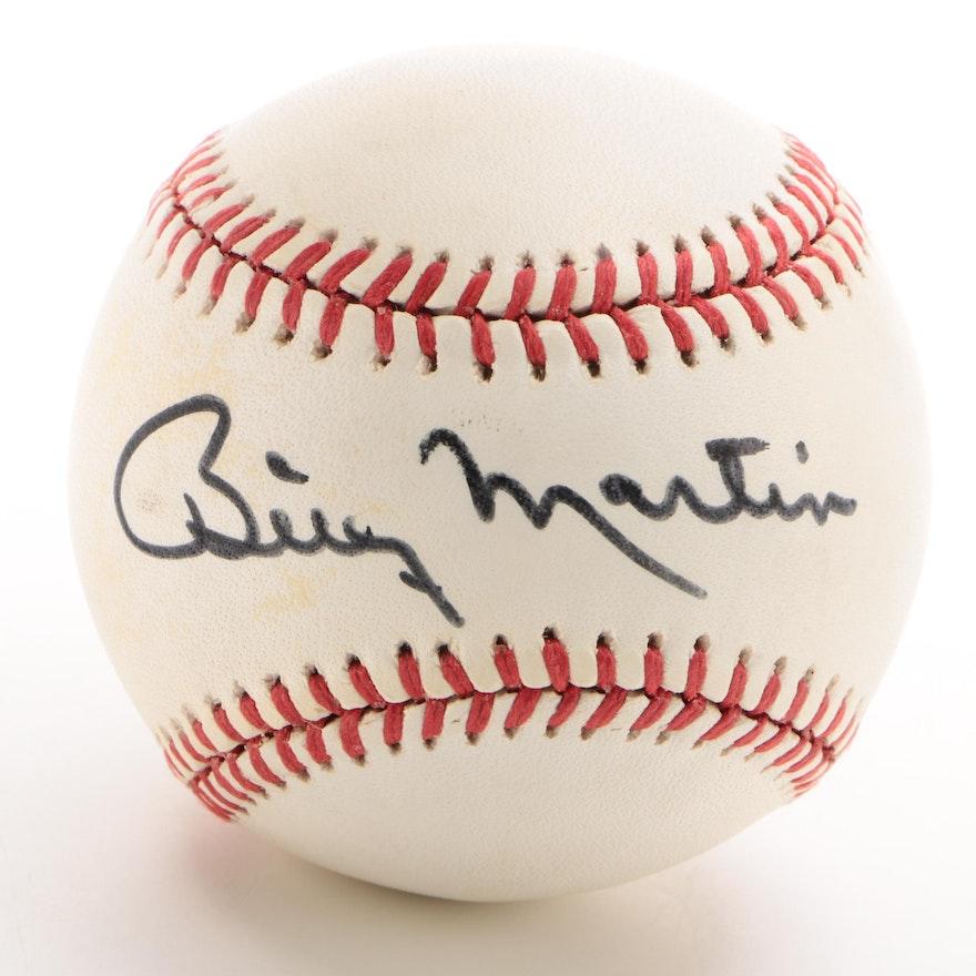 Billy Martin Signed American League Baseball