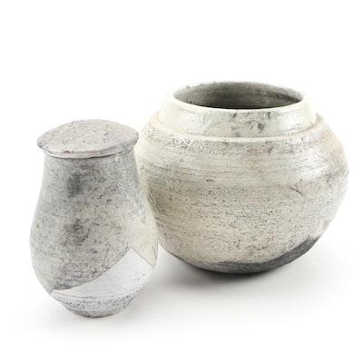 John Tuska Stoneware Pottery Vessels