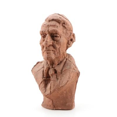 "John Tuska Stoneware Bust ""John Sherman Cooper"""