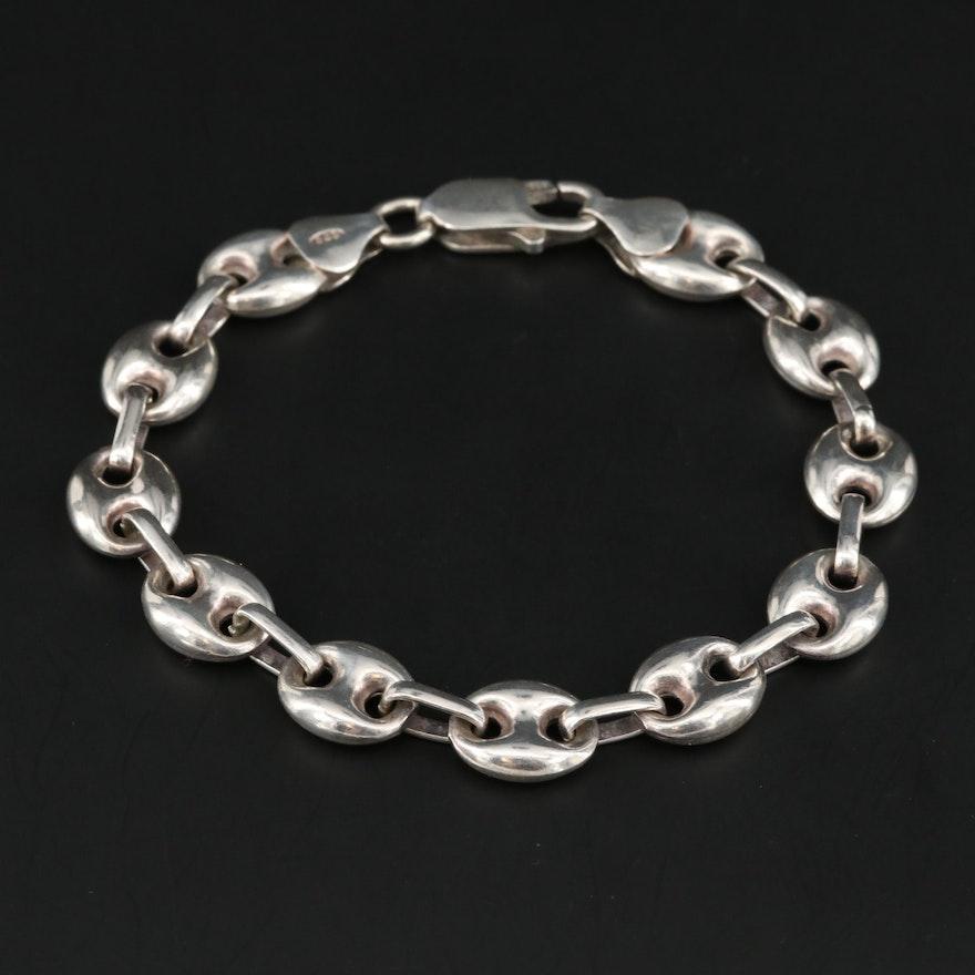 Sterling Silver Mariner Chain Bracelet
