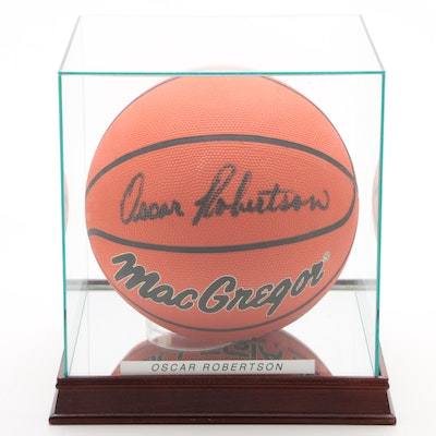 Oscar Robertson Signed MacGregor Basketball with Case