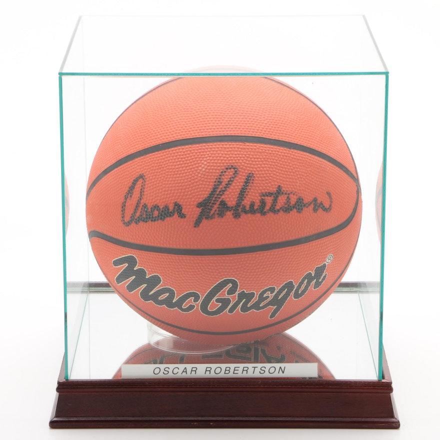 Oscar Robertson Signed MacGregor Basketball with Case