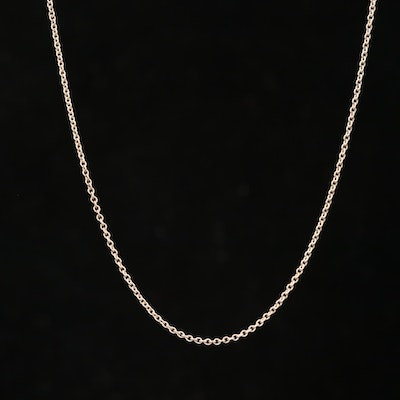 Tiffany & Co. Sterling Silver Cable Chain Necklace