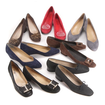 Salvatore Ferragamo, Stuart Weitzman, Sesto Meucci and Other Low-Heeled Shoes
