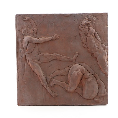 "John Tuska Stoneware Relief Sculpture from ""Icarus Series"""