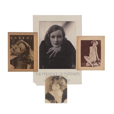 Glamour Portraits Including Greta Garbo and Hazel Dawn