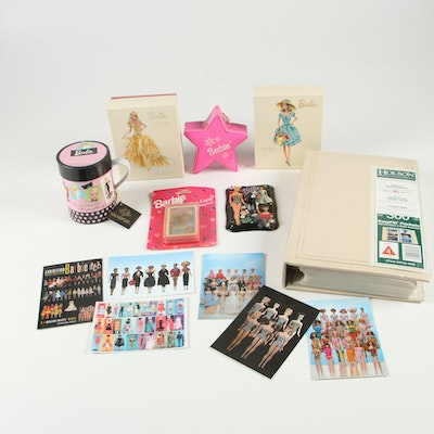 Barbie Mug and Coaster Set, Note Cards and Other Barbie Collectibles