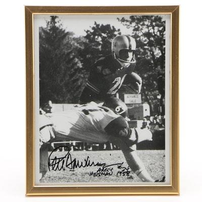 Pete Dawkins Army Signed 1958 Heisman Trophy Winner Photo Print