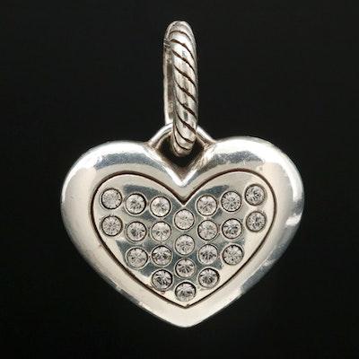Sterling Silver Rhinestone Heart Pendant