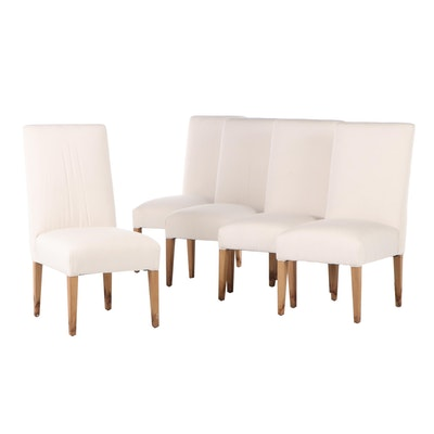 Upholstered Parsons Chairs, Contemporary