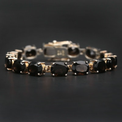 Sterling Silver Smoky Quartz Bracelet