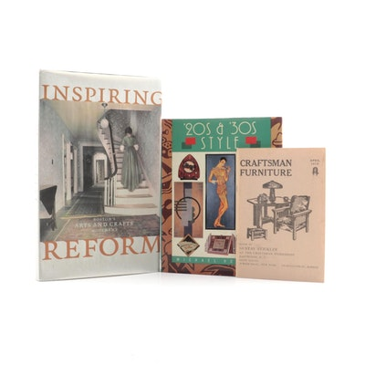 Arts and Crafts, Art Deco Design Books Including a Craftsman Furniture Catalog