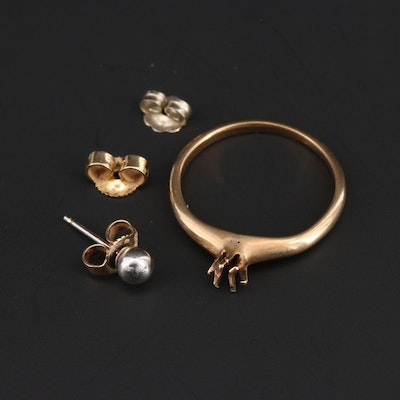 14K Yellow and White Gold Scrap Jewelry