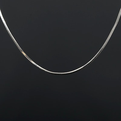 14K White Gold Snake Chain Necklace