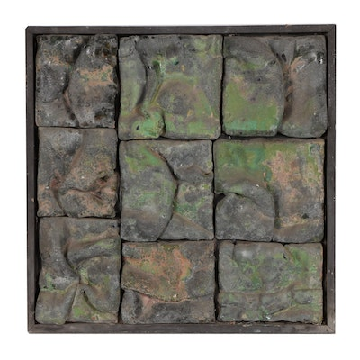 John Tuska Abstract Stoneware Relief Sculpture