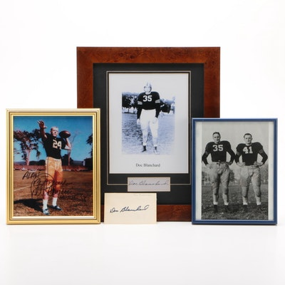 Signed Heisman Trophy Winner Football Photo Prints Including Doc Blanchard