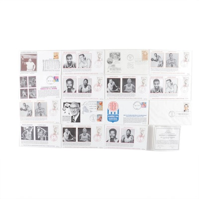 NBA Basketball Hall of Fame First Day Limited Edition Postal Envelopes
