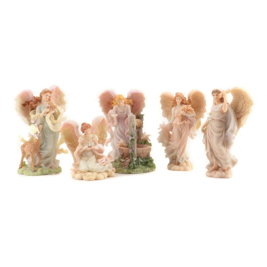 "Roman, Inc. ""Seraphim Classics"" Resin Angel Figurines with Original Boxes, 1990s"