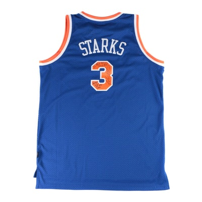 John Starks Signed New York Knicks Replica Reebok NBA Basketball Jersey, 1993-94