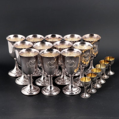 International Silver Co. Wilcox Silver Plate Goblets and Cordial Stemware