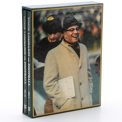 "First Printing ""Vince Lombardi on Football"" Two Volume Set, 1973"