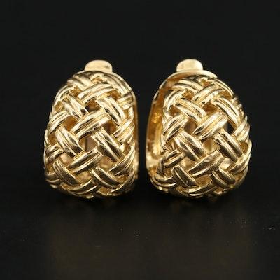 Jean Vitau 18K Cuff Earrings