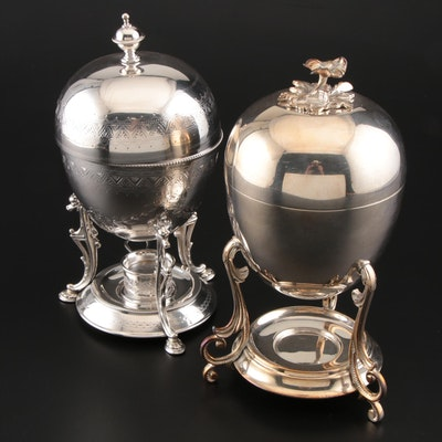 Robert Pringle and Hukin & Heath of England Silver Plate Egg Coddlers